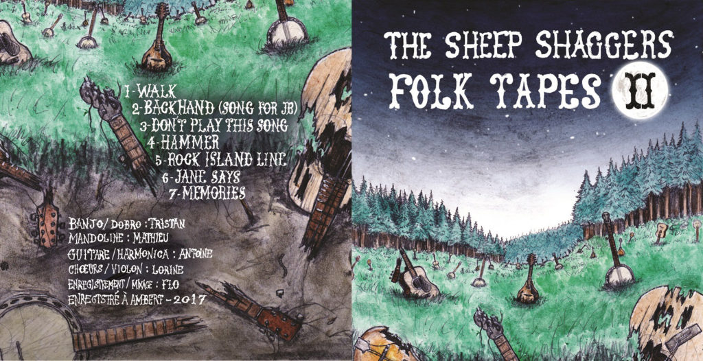 Pochette de l'album Folk Tapes II du groupe The Sheep Shaggers
