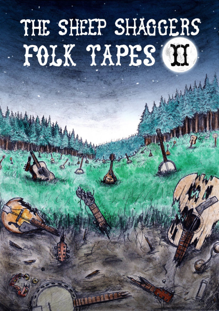 Affiche pour la promotion de l'album Folk Tapes II du groupe The Sheep Shaggers