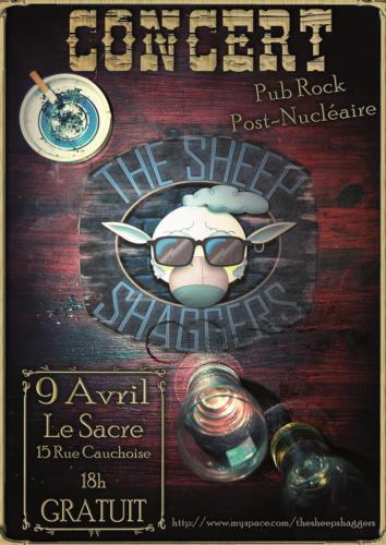 Affiche de tournée du groupe The Sheep Shaggers